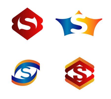 sch: Letter S Logo Design Concepts set Alphabetical