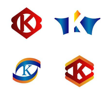 typesetter: Letter K Logo Design Concepts set Alphabetical