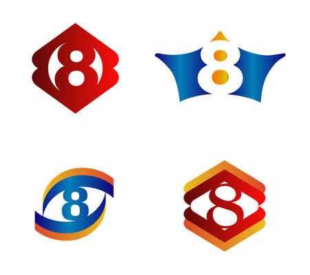 logotype: Number 8 logo. Vector logotype design