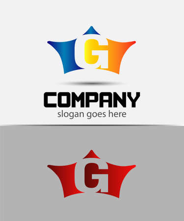 crown logo: Sign the letter G Branding Identity crown logo design template