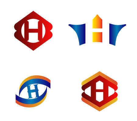 alphabetical: Letter H Logo Design Concepts set Alphabetical