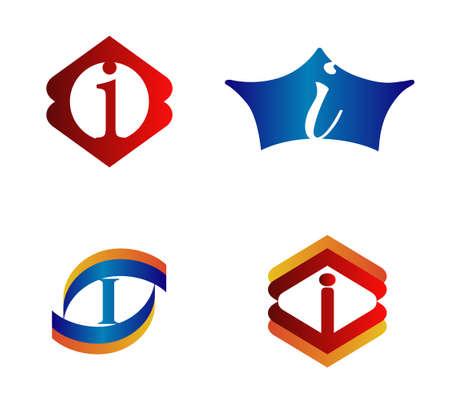 Letter Logo Design Concepts I set Alphabetical Illustration