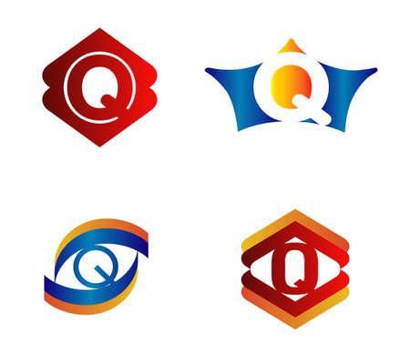 alphabetical: Letter Q Logo Design Concepts set Alphabetical