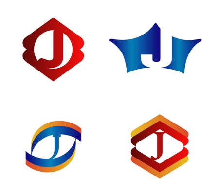 alphabetical: Letter J Logo Design Concepts set Alphabetical