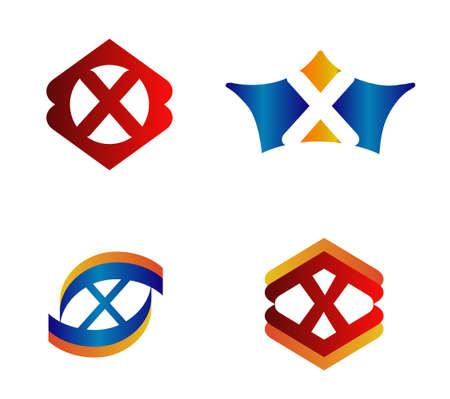 xy: Letter X Logo Design Concepts set Alphabetical