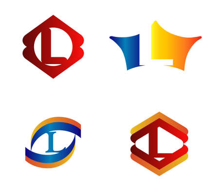 typesetter: Letter L Logo Design Concepts set Alphabetical Illustration