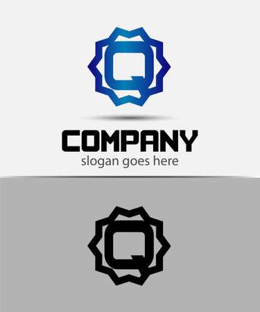 Letter q Alphabetical Logo Design Concepts