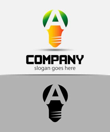 fresh idea: Fresh idea art design concept A logo vector design template. Creative thinking art