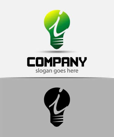 fresh idea: Fresh idea art design concept i logo vector design template. Creative thinking art Illustration