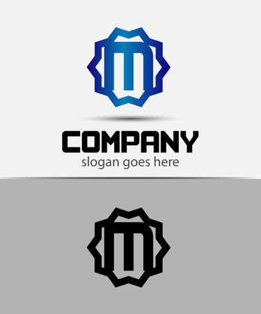 typesetter: Letter m Alphabetical Logo Design Concepts
