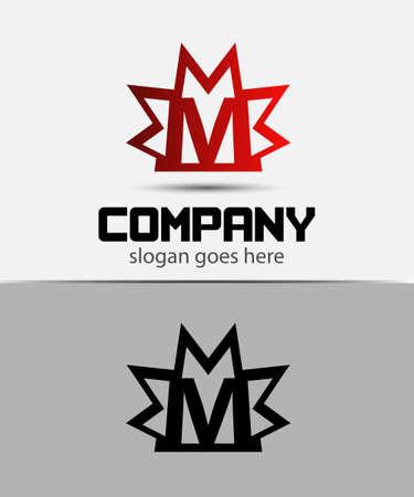 infinite shape: Creative letter M icon