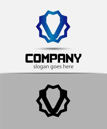 typesetter: Letter v Alphabetical Logo Design Concepts Illustration
