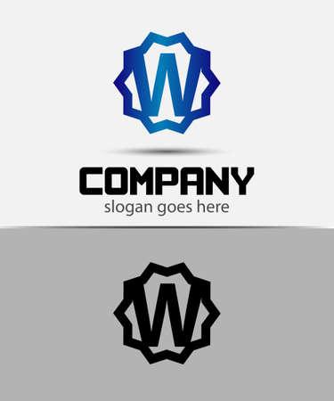 typesetter: Letter w Alphabetical Logo Design Concepts Illustration