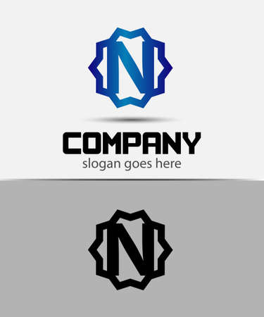 Letter n Alphabetical Logo Design Concepts