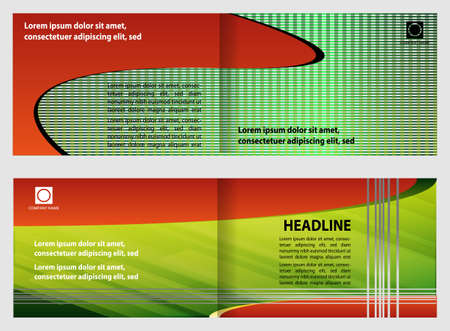 coworker banner: Template for advertising brochure�