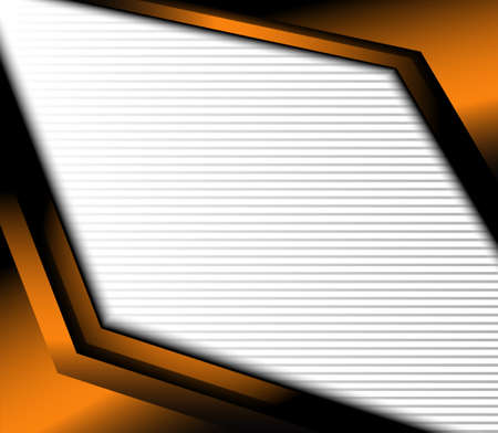Orange background vector overlap dimension on white background square line for text and message design Illustration