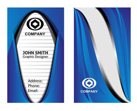 identification card: Blue Business card Illustration