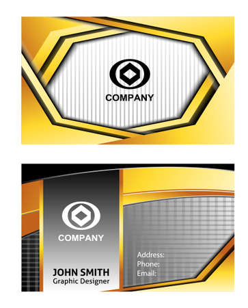 sullen: business card template Illustration