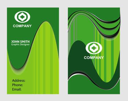 card: Business card vertical