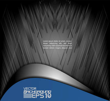 layer: Blue brochure template flyer design vector origami paper layer overlap with sample text for A4 size