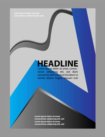 magazine template: brochure or magazine cover template Illustration