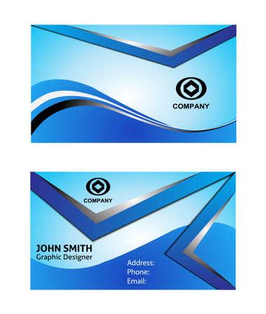 blue card: Business card