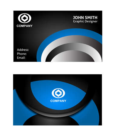 blue background texture: Abstract elegant wave business card template