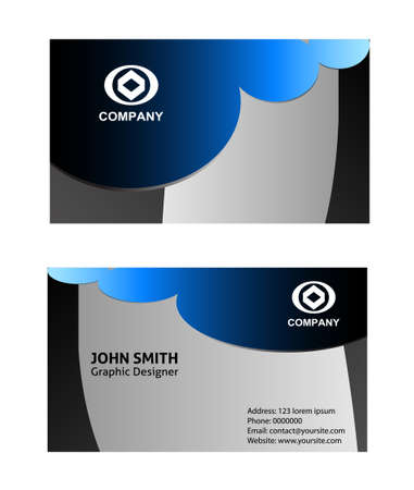 aerodynamic: Abstract elegant wave business card template