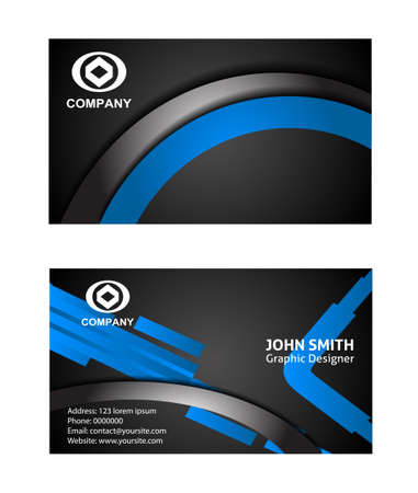 graphic icon: Vector business card set, elements for design