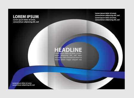 tri: Tri fold business brochure vector template
