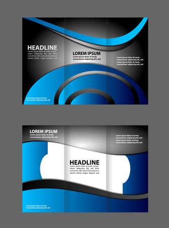 tri fold business brochure template Illustration