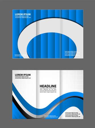 fold: tri fold business brochure template Illustration