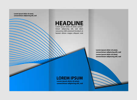 Corporate blau Tri Fold Business Broschüre Design Vorlage