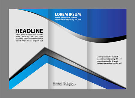tri: tri fold business brochure template Illustration