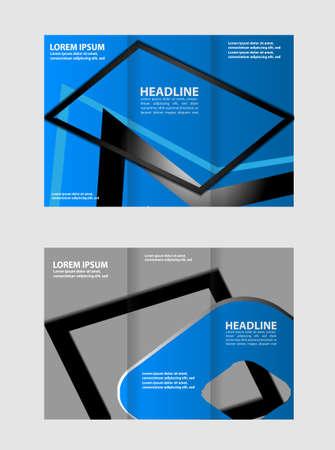 tri fold: Blue Tri Fold Brochure