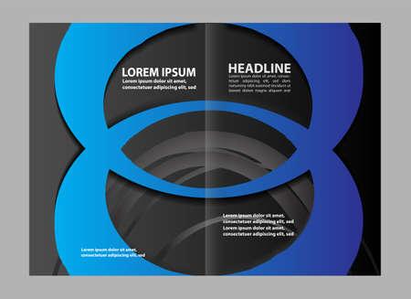 coworker banner: Blue brochure template Illustration