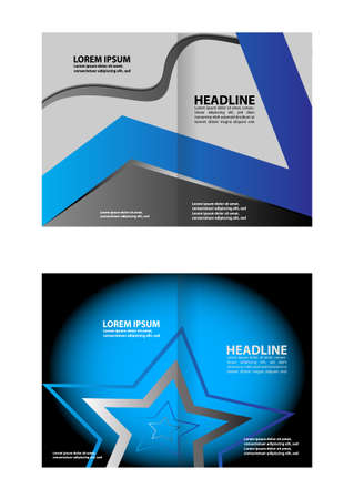 book publisher: Vector business brochure, flyer template design