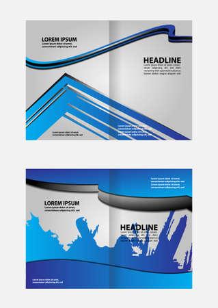 bi: Bi fold business brochure vector template
