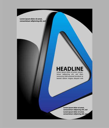the publisher: Flyer booklet template design catalog brochure folder Illustration