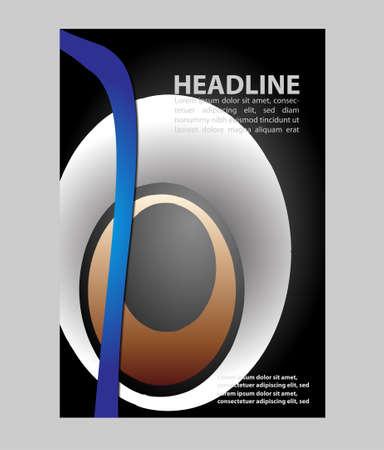 t document: Presentation of Poster flyer design editable vector illustration