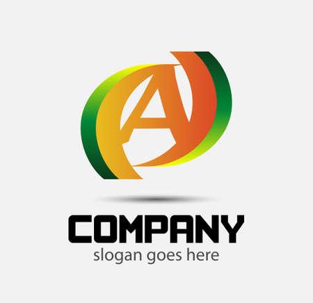 six web website: Logo number 6 vector design template Illustration