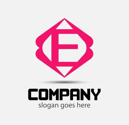 letter e: letter E logo icons design template elements vector signs Illustration