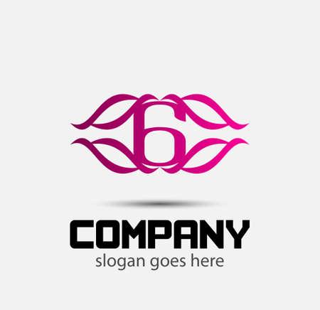 six web website: Number six 6 logo icon