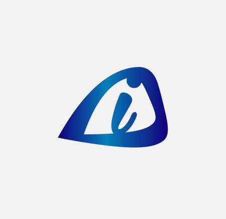 radon: Letter I logo design template Illustration