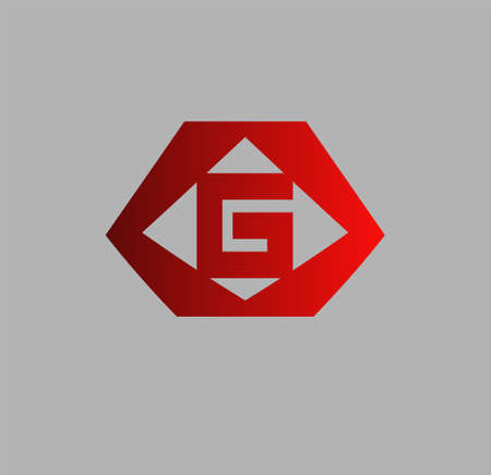 looped shape: Abstract letter G logo design template