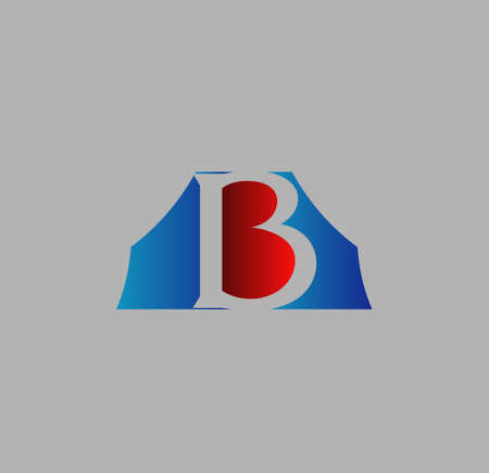 based: Abstract icon based on the letter b Illustration