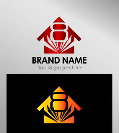 house logo: House icons, logo 8 number