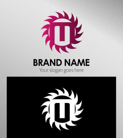 infinite shape: Creative Letter M icon. Sun logo concept Illustration