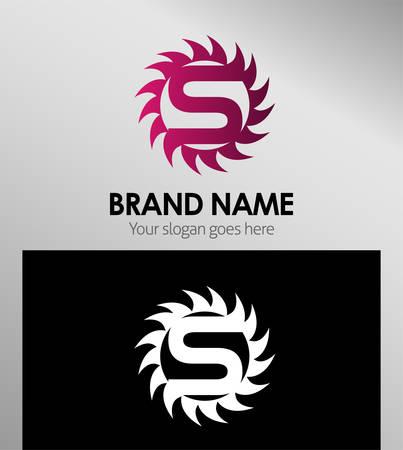 sch: Creative Letter S icon. Sun logo concept