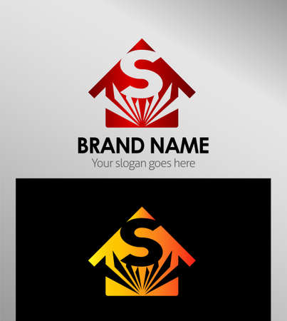 sch: House icons, logo S Letter